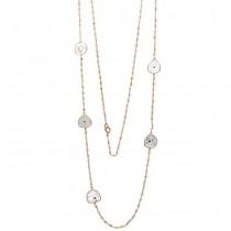 18K Rose Gold Fancy Diamond Slice Necklace