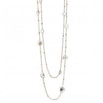 18K Rose Gold Fancy Diamond Slices Necklace