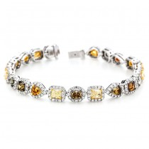18K Two-tone Gold Fancy Diamond Bracelet