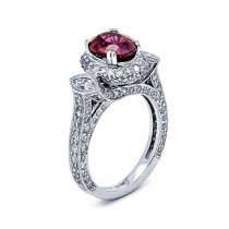 18K White Gold Ruby Band