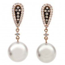 18K White Gold South Sea Pearl Earrings