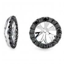 18K White Gold Black Diamond Jackets