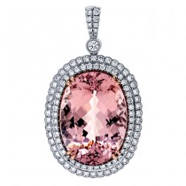 18K Two-tone Morganite Pendant