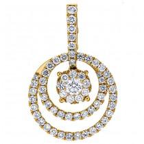 18K Yellow Gold Diamond Pendant