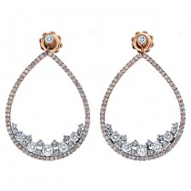 18K Two-tone Gold Diamond Earrings