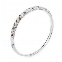 18K White Gold Fancy Diamond Bangle