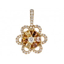 18K Yellow Gold Fancy Diamond Pendant