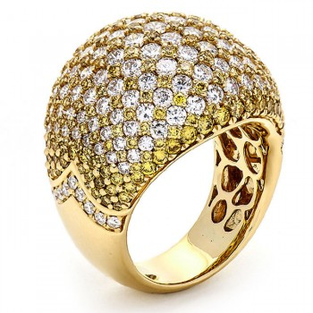 Yellow Gold and Yellow Diamond Band