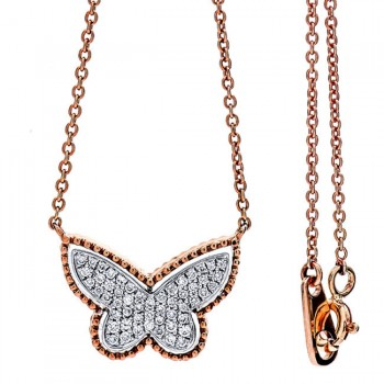 18K Two-tone Diamond Necklace