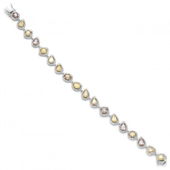 18K Tri-Color Gold Fancy Diamond Bracelet