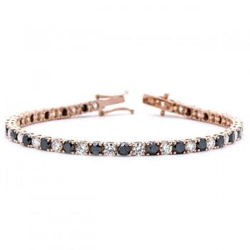 18K Rose Gold Black Diamond Bracelet
