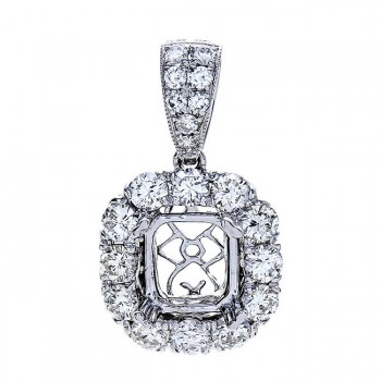18K White Gold Diamond Pendant