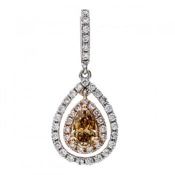18K Two-tone Champagne Diamond Pendant