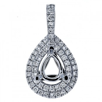 18K White Gold Pendant Semi-Mount