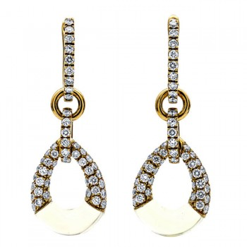 18K Yellow Gold Lemon Quartz Earrings