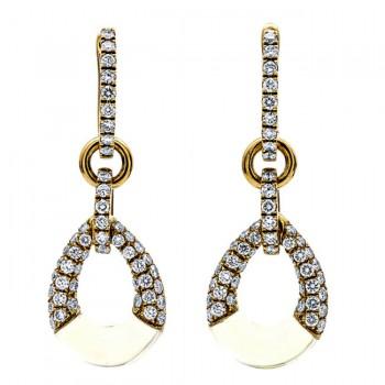 18K Yellow Gold Lemon Quartz Earrings