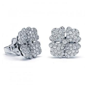 18K White Gold Diamond Studs