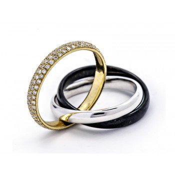 18K Two-tone Gold Tungsten Band