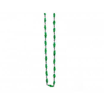 18K Black Rhodium Emerald Faceted Bead Necklace