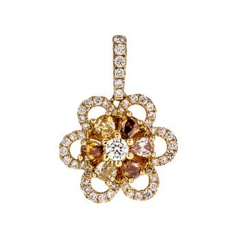 18K Yellow Gold Fancy Diamond Pendant